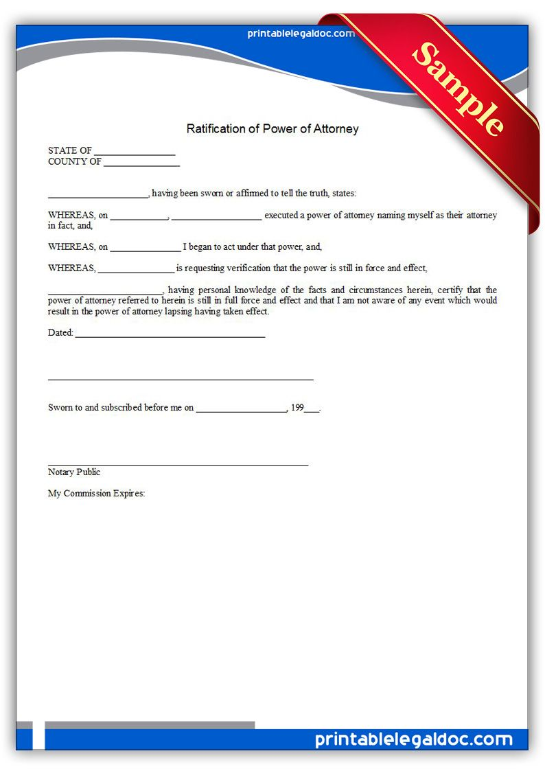 general power of attorney document