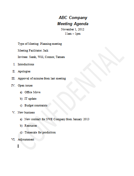 how to put a watermark in a word document