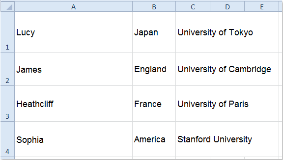 split word document into collums