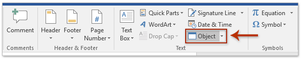 embed audio file in word document