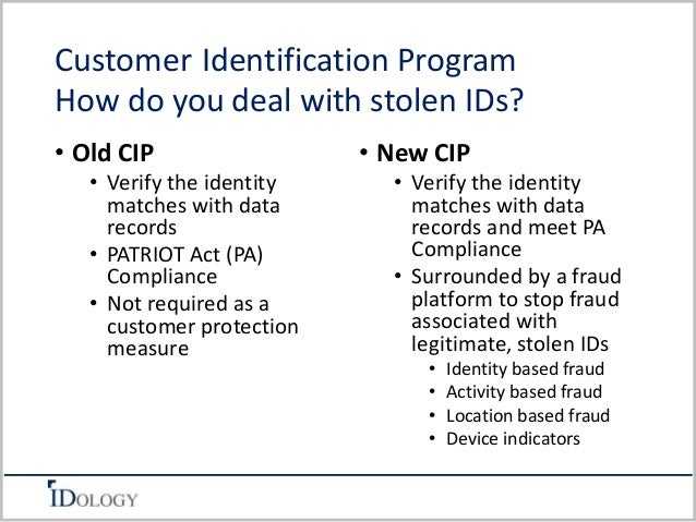 customer identification documentation patriot act form