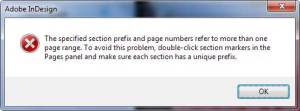 page numbering 01 apply to whole document indesign