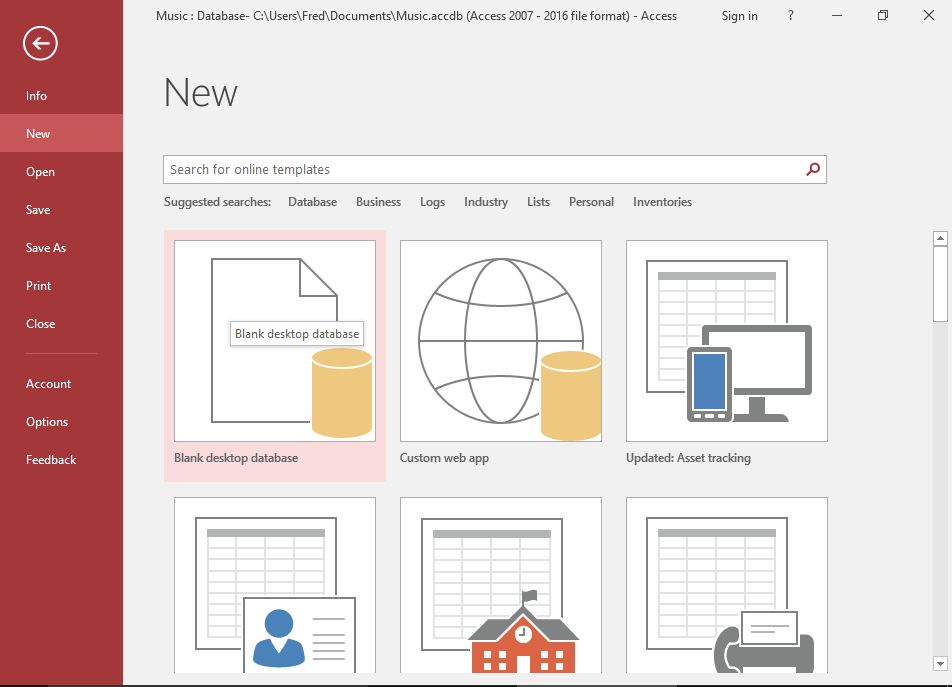 how to pin a document in ms access 2016