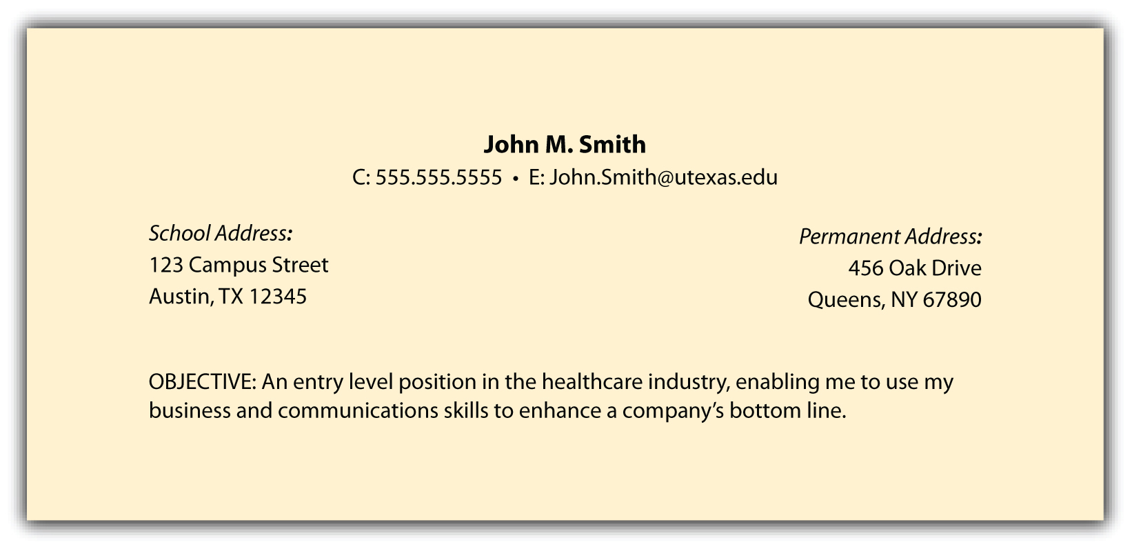 should i write resume in the header of my document