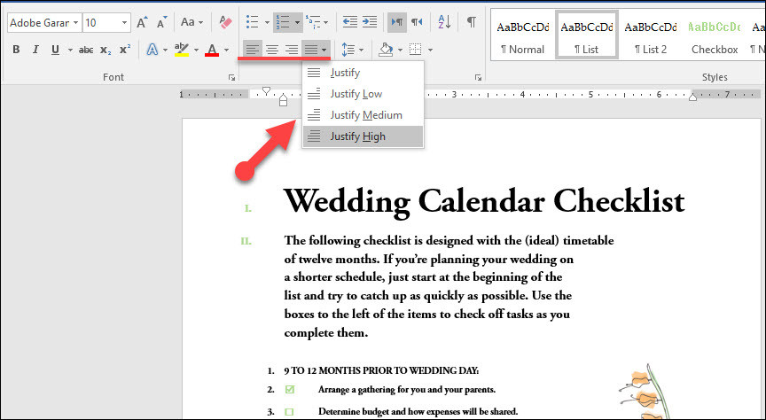 select the encoding that makes your document readable word 2016