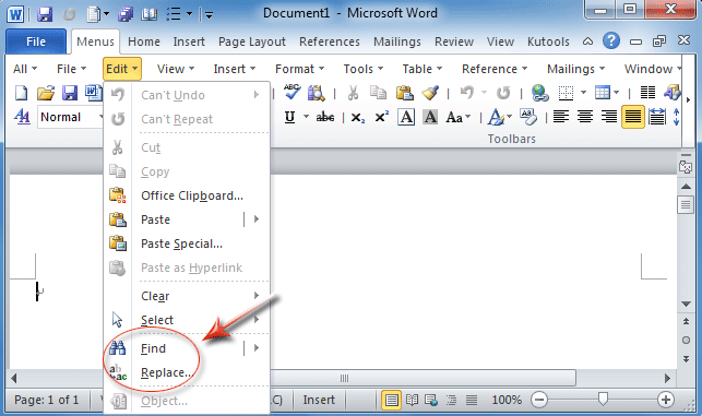 how to replace a word in a word document