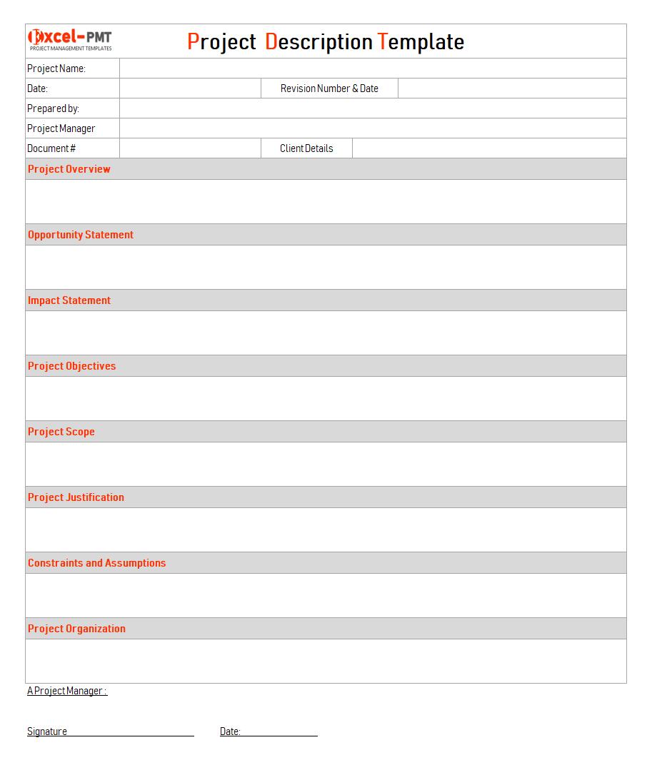 project management document control template