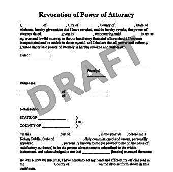 lost power of attorney document