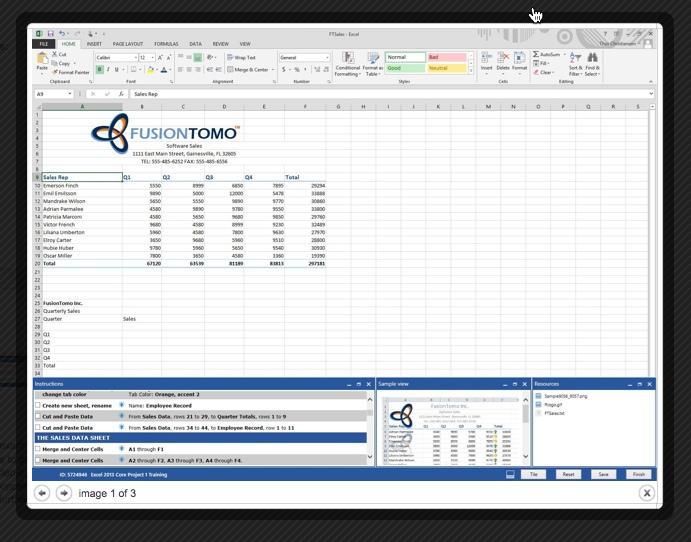 microsoft office skills basic document