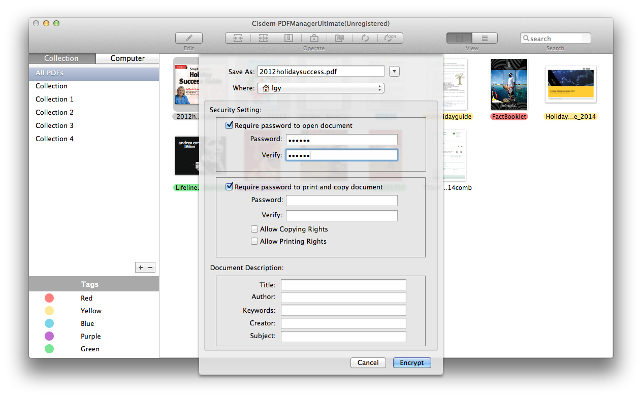 how to add a password to a pdf document
