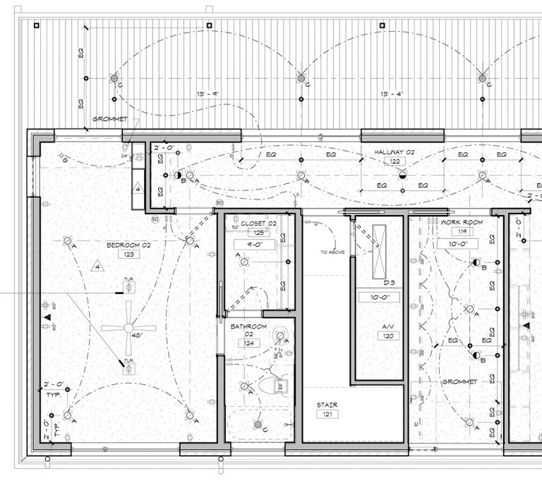 rcp how to document change in ceiling height
