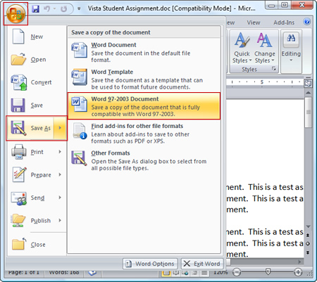 how to convert word 2007 document to pdf