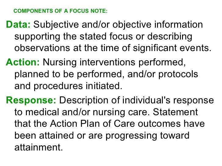 what is focus documentation in nursing