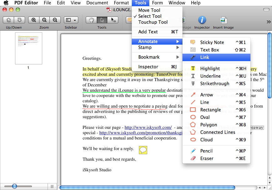 add hyperlink to word document