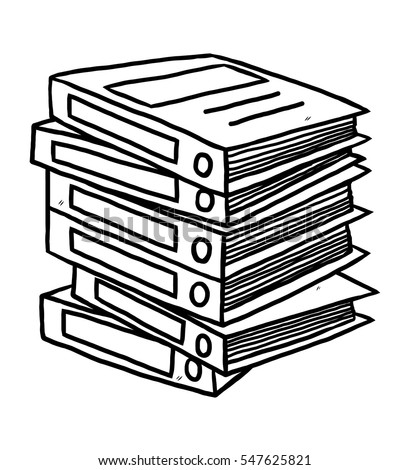 a3 document cartoon black and white