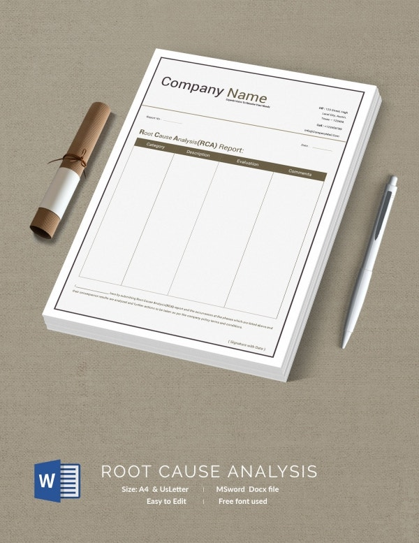 root cause analysis document template