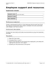 entry document for assessment task
