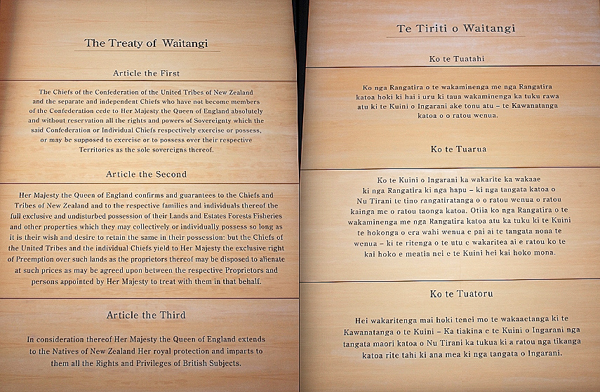 original treaty of waitangi document