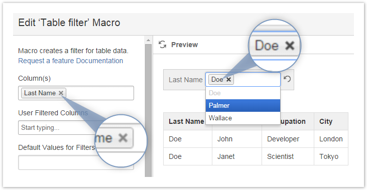 quickly insert macros into a confluence document