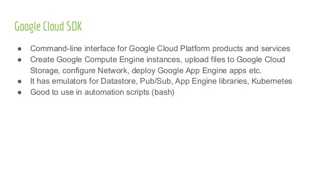 google cloud sdk documentation