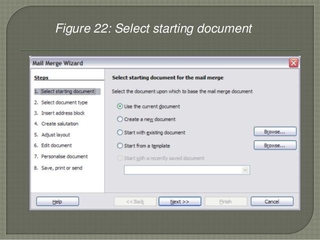 mail merge document won& 39