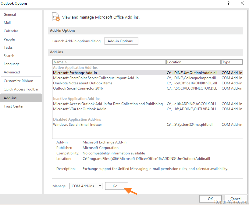 cannot find word document windows 10