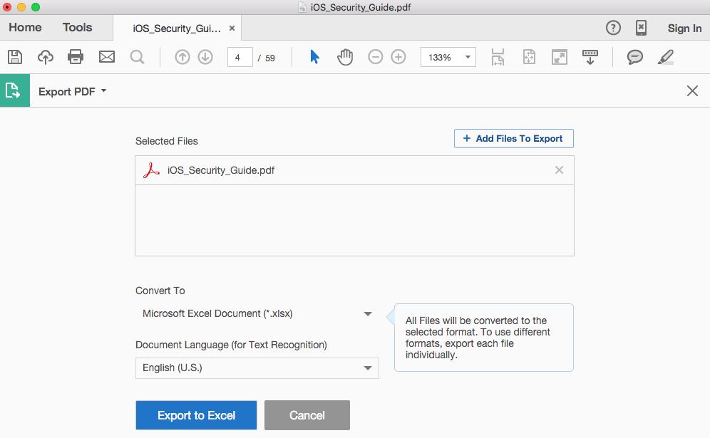 convert adobe acrobat document to pdf