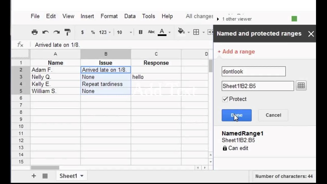how to password edit protect an excel document
