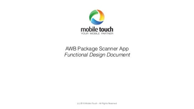 functional specification document sample web application