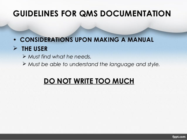 iso 9001 documentation guidelines