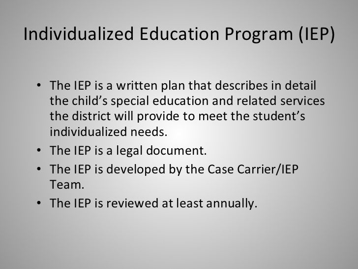 is an iep a legal document