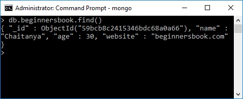 mongodb when is document created