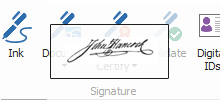 how to insert a signature on a pdf protected document