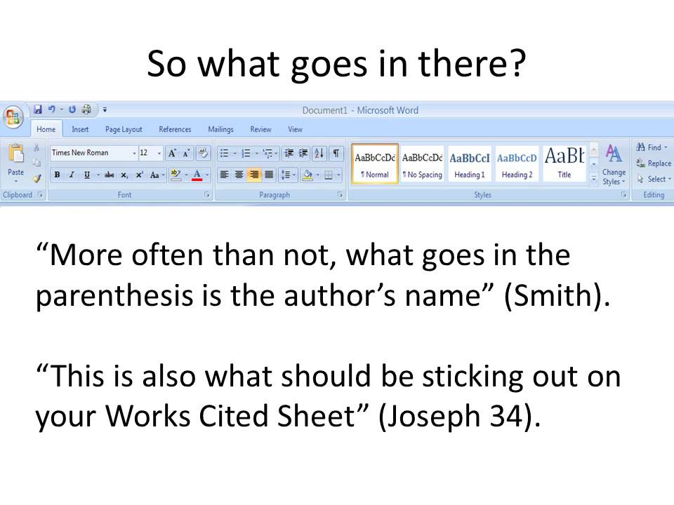 what is parenthetical documentation