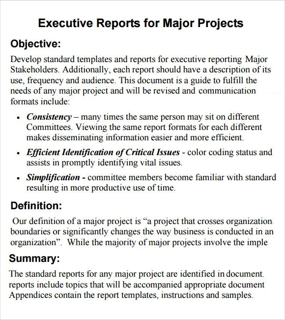 word document template of a summary