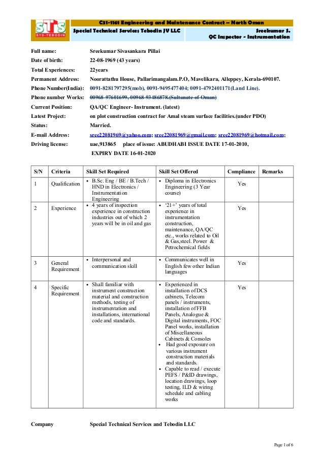 sales to project handover document