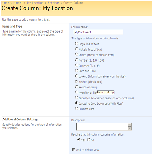 sharepoint 2010 document library dropdown