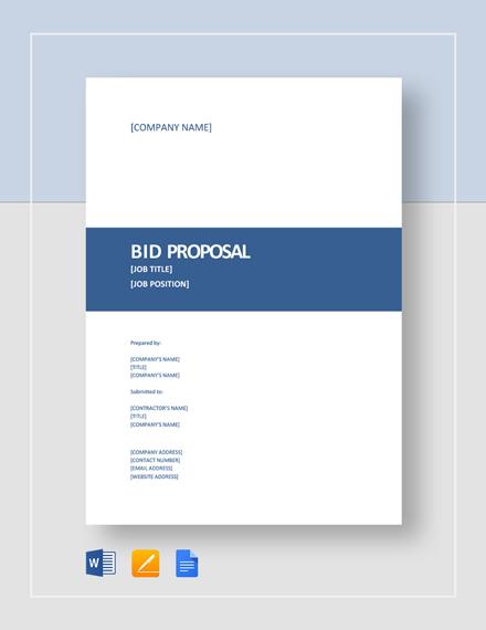 tender document template for bne