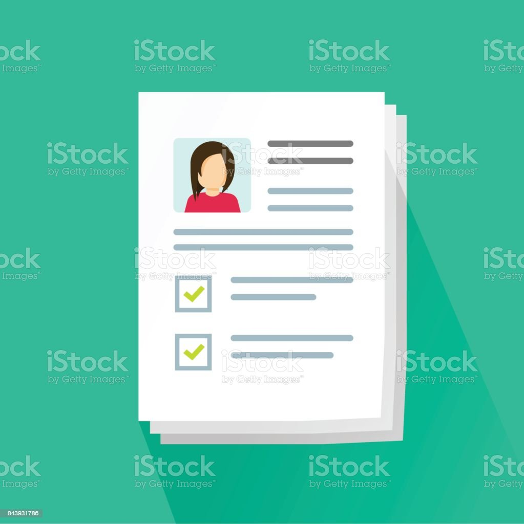 is a resume a confidential document