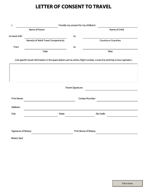 canadian travel document application form