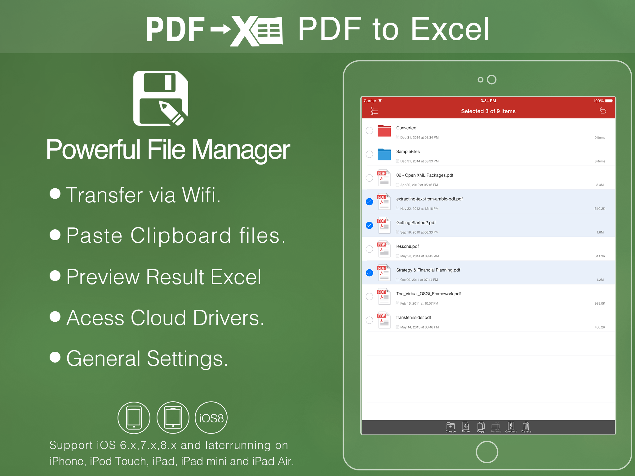 how to send an editable document for iphone