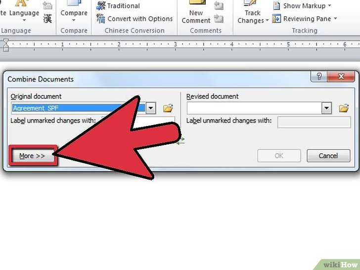 microsoft office word merge within document