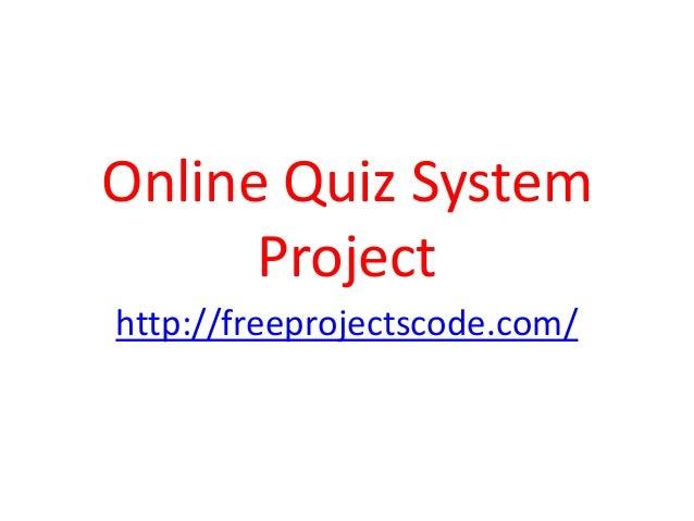 online quiz system project documentation