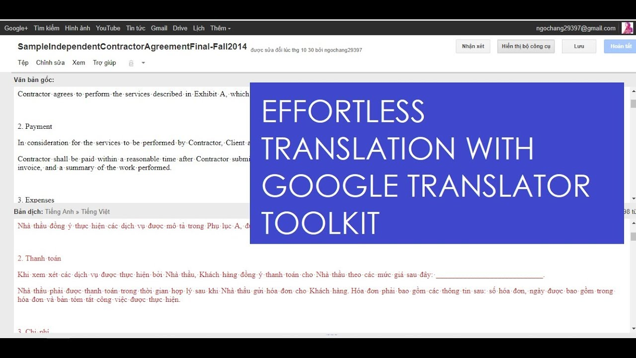 how to translate a whole document