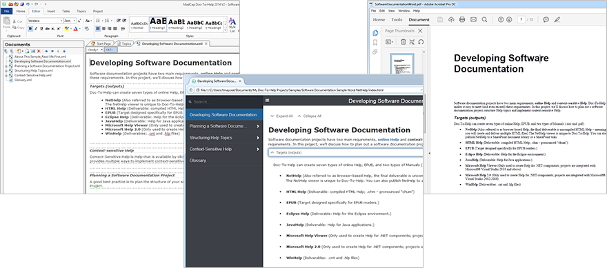 software technical documentation sample