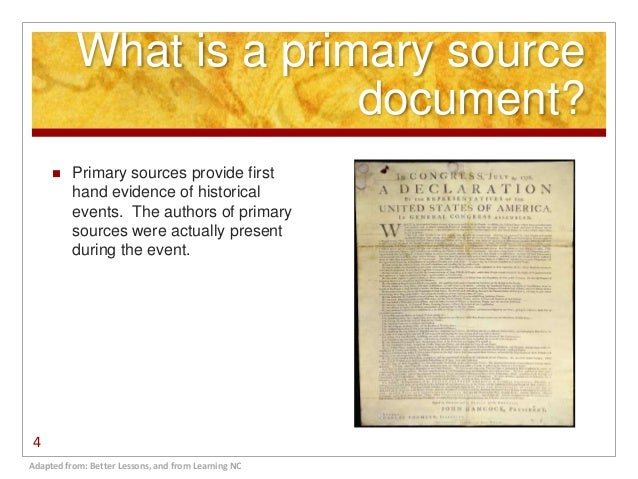 what is a secondary source document