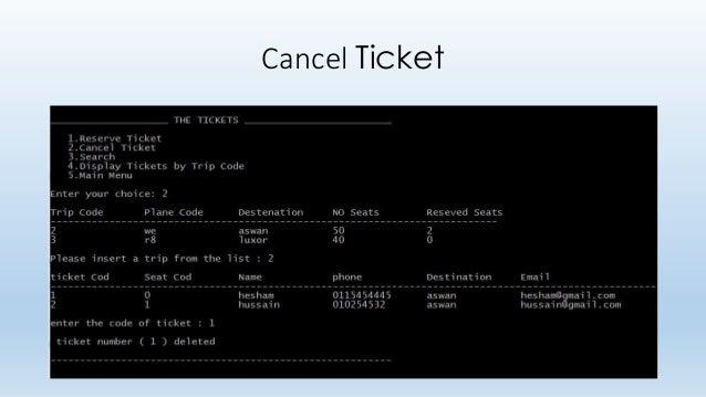 online reservation and billing system documentation
