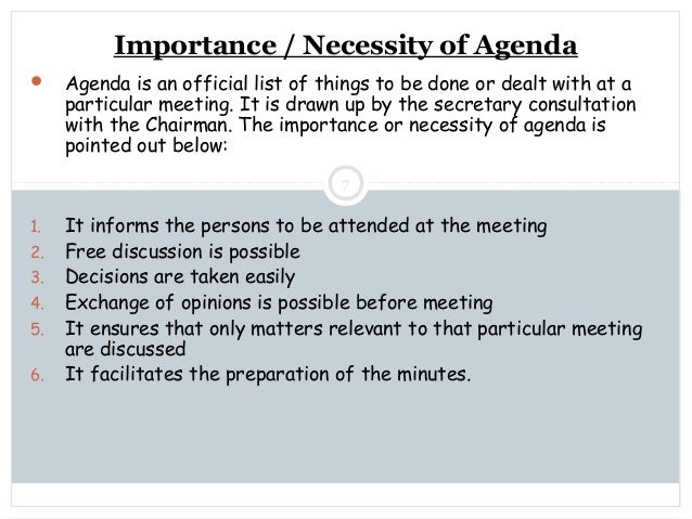 what is the importance of proper documentation of meeting