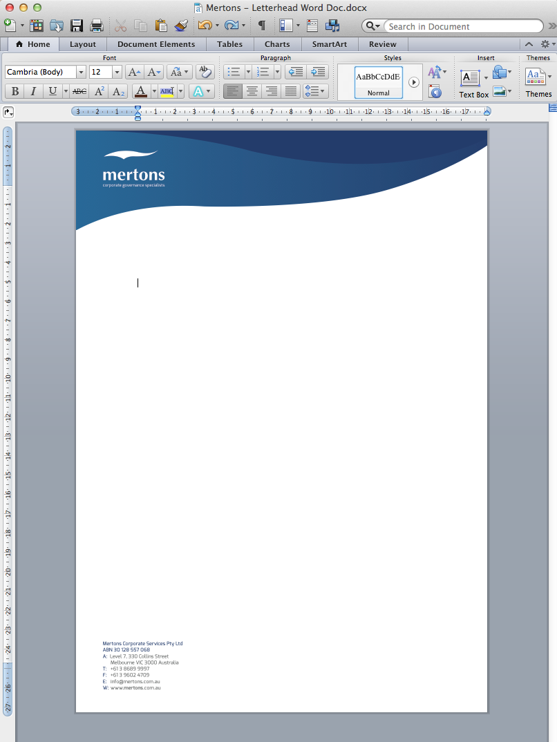 how to design a word document