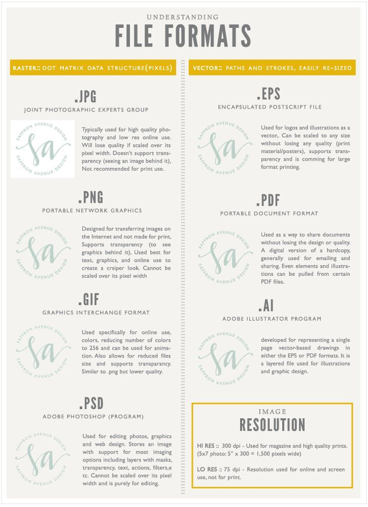 types of files for a document